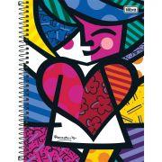 Caderno 10X1 Capa Dura Romero Brito 200 Folhas