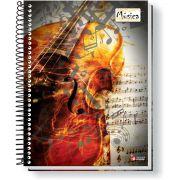 Caderno Musica Universitario Espiral 64F CD