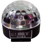 Caixa Acustica Bola LED Giratorio USB/SD Bivo