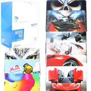 Caixa com 50 Mouse PAD Simples 220X180X2MM com Desenhos Sortidos de Carros Tecido Tecidomp 2218A EXBOM