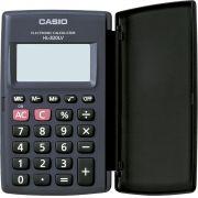 Calculadora de Bolso 8 Digitos HL-820LV-BK-S4-DH Preta, com Tampa ABRE e Fecha