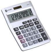 Calculadora de Mesa 12 Digitos com Alimentacao Solar ou a Pilha - CM20 Prata
