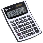 Calculadora de Mesa 12 Digitos com Alimentacao Solar ou a Pilha - CM30 BRANCA/CINZA