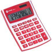 Calculadora de Mesa 12 Digitos com Alimentacao Solar ou a Pilha - CM30 BRANCA/VERMELHO