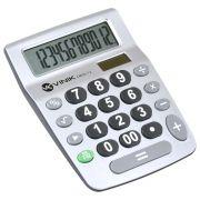 Calculadora de Mesa 12 Digitos com Alimentacao Solar ou a Pilha - CM50 Prata