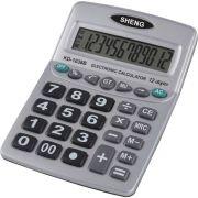Calculadora de Mesa 12DIGITOS Pilha AAA Prata
