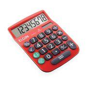 Calculadora de Mesa 8 Digitos MV-4131 Vermelha