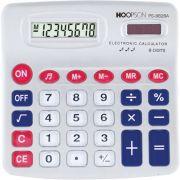 Calculadora de Mesa 8DIGITOS Pilha C/SOM Cinza