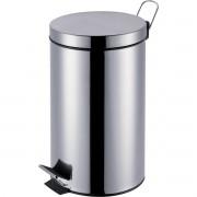 Cesto para Lixo AGATA INOX C/PEDAL 12LTS.