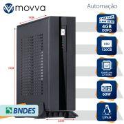Computador Automacao MVAC INTEL Dual Core J1800 2.41GHZ Memoria 4GB SSD 120GB HDMI/VGA Fonte 60W - Linux