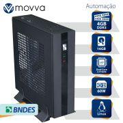 Computador Automacao MVAC INTEL Dual Core J1800 2.41GHZ Memoria 4GB SSD 16GB HDMI/VGA Fonte 60W - Linux