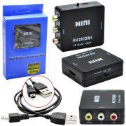 Conversor de Video Composto RCA AV para HDMI AV2HDMI AV2HDMI
