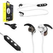 Fone Ouvido Headset Bluetooth 4.1 sem Fio Stereo AMW-810 Branco AMW-810