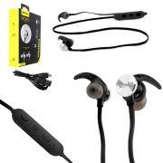 Fone Ouvido Headset Bluetooth 4.1 sem Fio Stereo AMW-810 Preto AMW-810