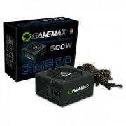 Fonte ATX Gamemax GM500 500 W Real Preta PFC Ativo Bivolt 80 PLUS Bronze