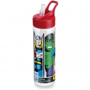 Garrafa Plastica Marvel Comics Fliptop 700ML.