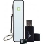 Kit Smartphone Power Bank+pen Drive+cartao de Memoria CL4 8GB MC200