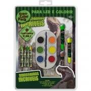 Livro Infantil Colorir Dinossauros Super Color PACK