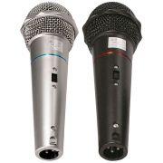 Microfone CSR-505 Duplo com Fio 1 Preto e 1 Prata