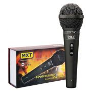 Microfone MXT M-K5 Preto Metal com Fio 3 Metros 541022