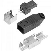 Mini Adaptador USB 4 Pinos CN0788 PRETO/PRATA CONNFLY