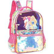 Mochila Escolar Barbie Metalizada GD 3BOLSOS