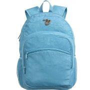 Mochila Escolar Capricho Crinkle Blue G