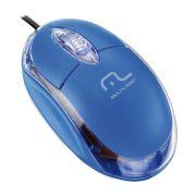 Mouse Optico Multilaser MO001 USB 800 DPI Classic AZUL