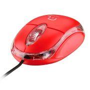 Mouse Optico Multilaser MO003 USB Classic Vermelho