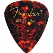 Palheta Celuloide Shape Classic 351 Medium Tortoise SHELL Fender (885978167630)