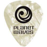 Palheta para Guitarra de Celuloide 1CWP4-10 - Branco Perola - Media - (PCT com 10 Unidades)