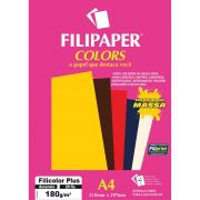 Papel A4 Color Filicolor PLUS Amarelo 180G.