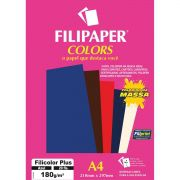 Papel A4 Color Filicolor PLUS AZUL 180G.