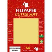 Papel A4 Color Glitter SOFT Champanhe 180G.
