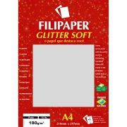Papel A4 Color Glitter SOFT Prata 180G.