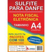 Papel Sulfite A4 Danfe C/SERRILHA 25PCTX100FL