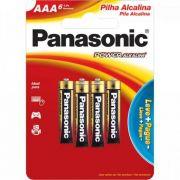 Pilha AAA Alcalina LR03XAB C/6 Panasonic