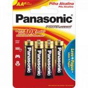 Pilha Alcalina AA LR6XAB/L6P5192 (cartela C/ 6 UNID.) Panasonic