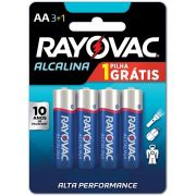 Pilha Alcalina Pequena AA Leve 4 Pague 3