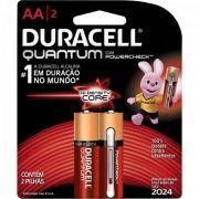 Pilha Quantum AA Duracell Caixa C/28 Pilhas (cartela C/2)