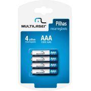 Pilha Recarregavel AAA 1000MAH C/4 CB050