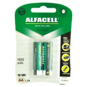 Pilha Recarregavel Alfacell AA 1800MAH 1,2V Embalagem com 2