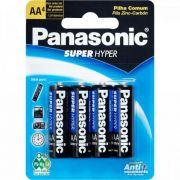 Pilha Zinco AA UM3SH Panasonic Cartela C/4 Pilhas - CAR / 4