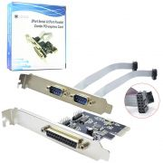 Placa EXPRESS PCI com 2 Seriais e 1 Paralela Compativel com WIN 98SE dos Linux XP 2003 Vista WIN7 Pciserial Lotus