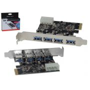 Placa PCI EXPRESS com 4 Saidas USB 3.0 5GBPS DP-43 DP-43 DEX