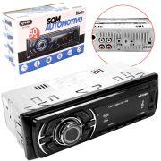 Radio Automotivo Bluetooth 60W X 4 AUX USB SD FM EQ MP3 KP-C23BH KNUP