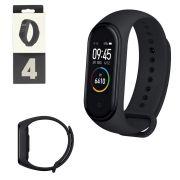 Relogio Inteligente Smartwatch Bluetooth com Medidor de Frequencia Cardiaca Preto M4 M4 Generico