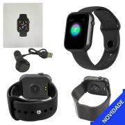 Relogio Inteligente Smartwatch Bluetooth Multi Funcoes Preto SMART Bracelet SMART Bracelet Generico