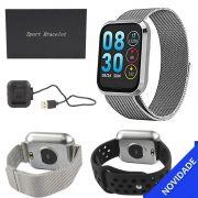 Relogio Inteligente Smartwatch Bluetooth Resistente a Agua Prata SMART Bracelet SMART Bracelet Generico