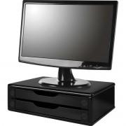 Suporte para Monitor 2GAVETAS 38X25X11 MDF BLACK PI